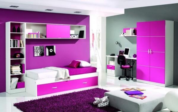 صورة ديكورات غرف نوم بنات , صور لاحدث ديكور بالوان متميزة لحجرات الصبايا