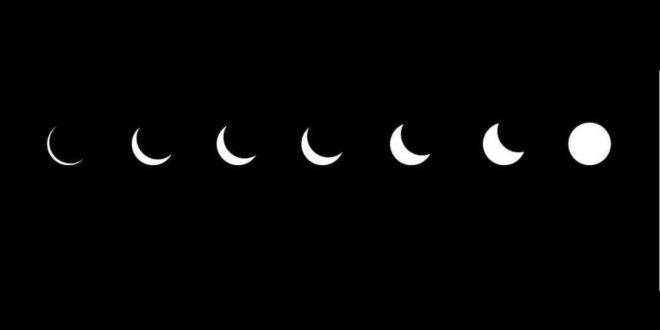 صورة مراحل تكوين القمر بالصور , اجمل الصور لمراحل تكوين القمر