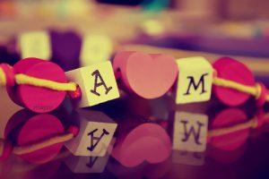 حرف A M مزخرف