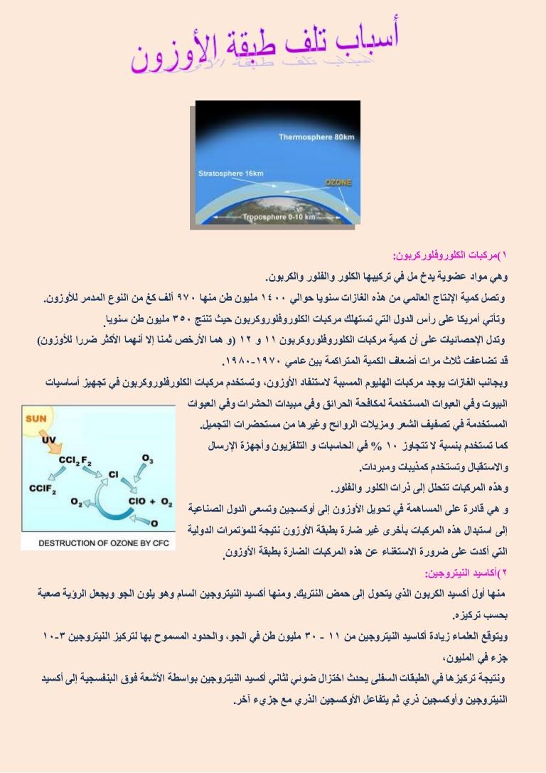 صورة اسباب ثقب الاوزون , ما هو السبب وراء ثقب الاوزون