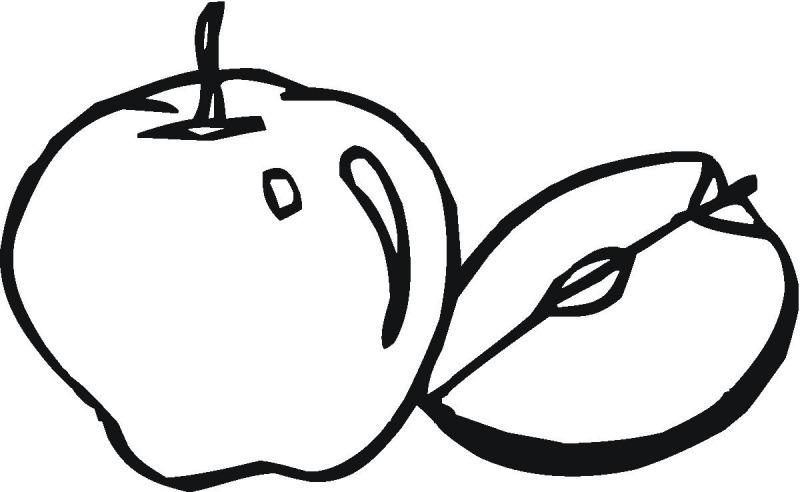 صورة صورة تفاحه للتلوين , اجمل رسومات التلوين للاطفال
