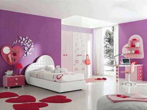 صورة اجمل غرفة بنات في العالم , غرف نوم للبنات باللون الوردى 1298 1