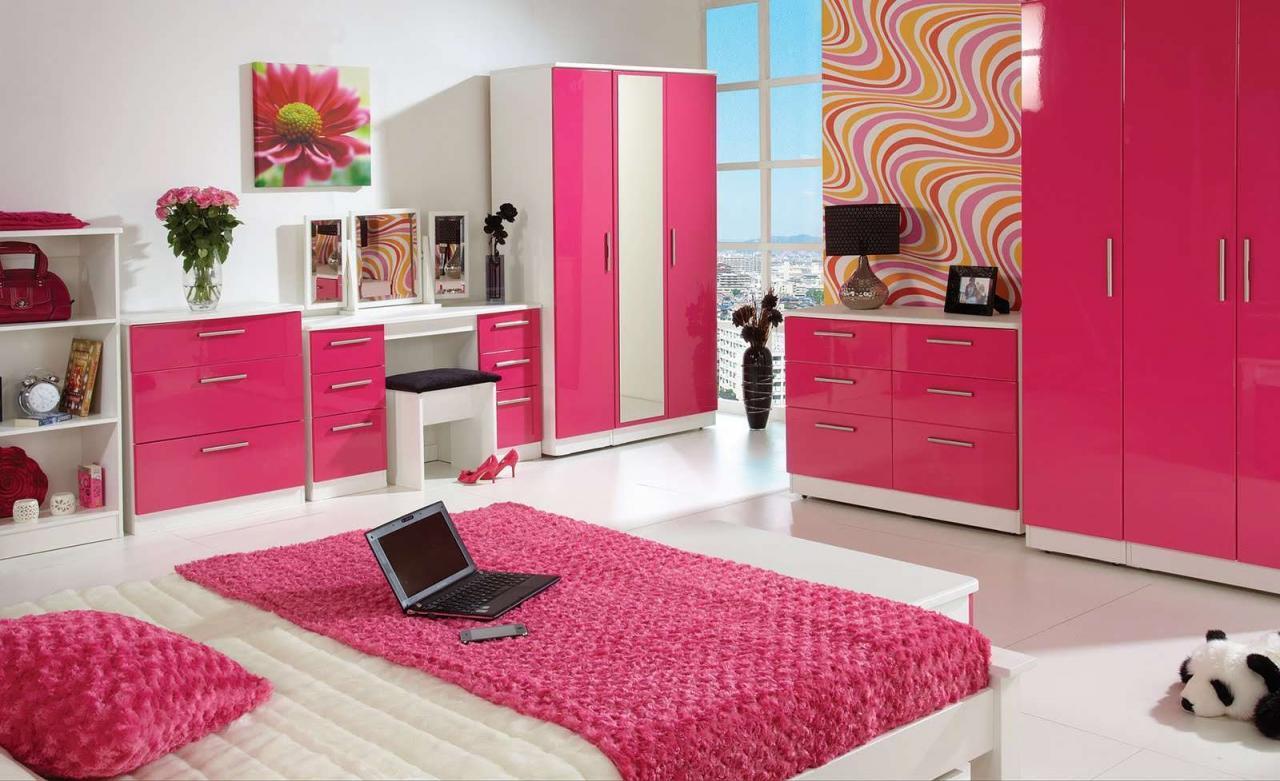 صورة اجمل غرفة بنات في العالم , غرف نوم للبنات باللون الوردى 1298 3