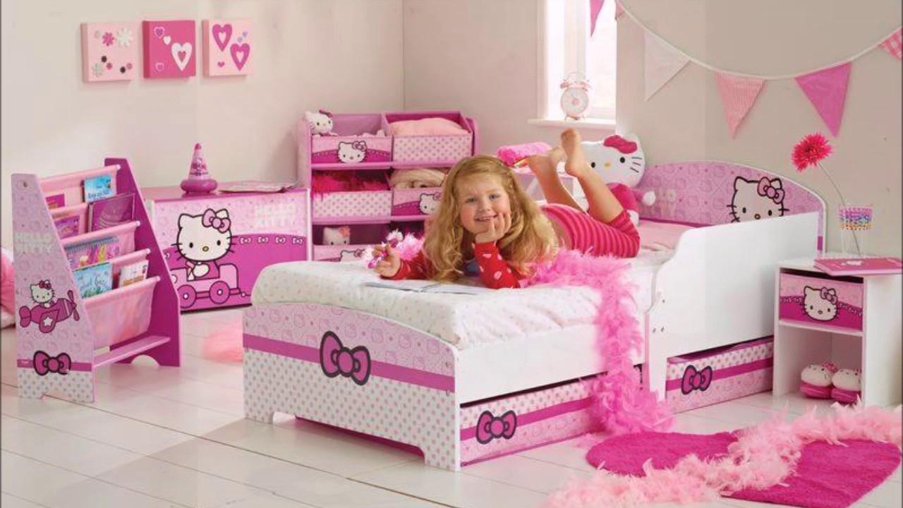 صورة اجمل غرفة بنات في العالم , غرف نوم للبنات باللون الوردى 1298 4