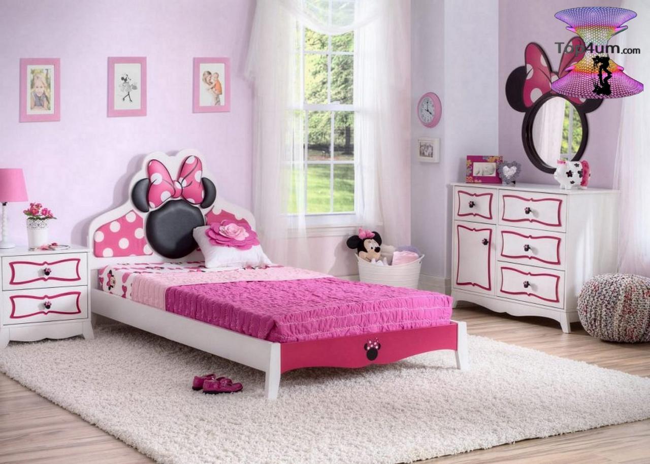 صورة اجمل غرفة بنات في العالم , غرف نوم للبنات باللون الوردى 1298 6