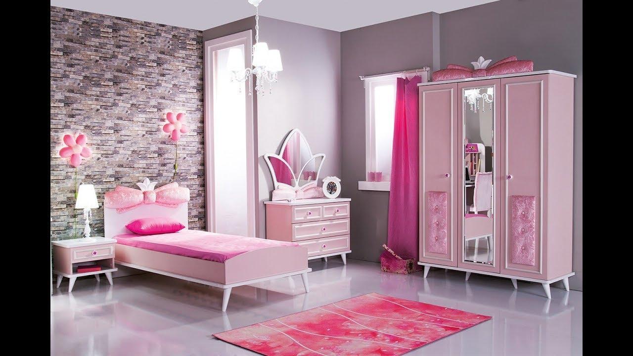 صورة اجمل غرفة بنات في العالم , غرف نوم للبنات باللون الوردى 1298 7
