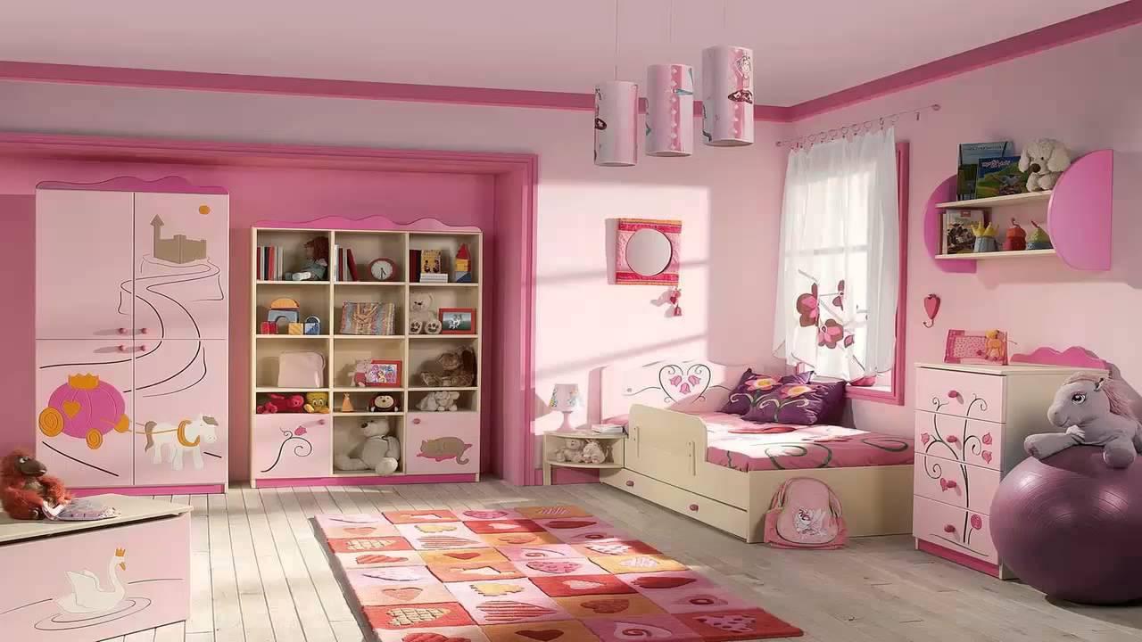 صورة اجمل غرفة بنات في العالم , غرف نوم للبنات باللون الوردى 1298