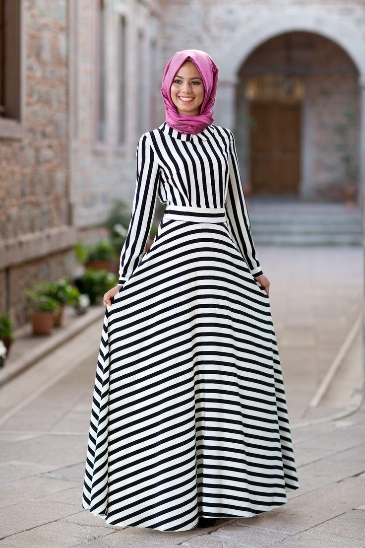 صورة ملابس محجبات ستايل تركي , ستايلات ملابس تركيه للمحجبات