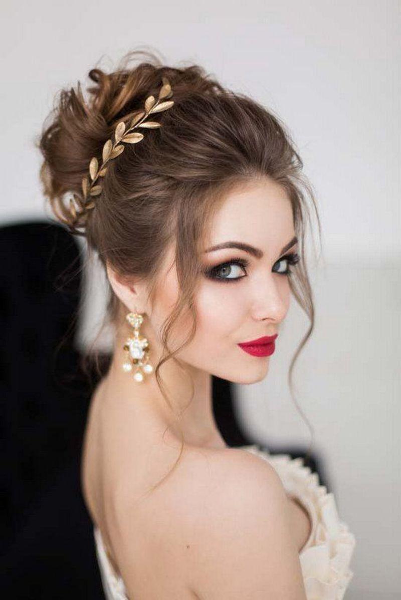 صور اجمل تسريحات 2019 , تسريحات شعر للعروس مميزه