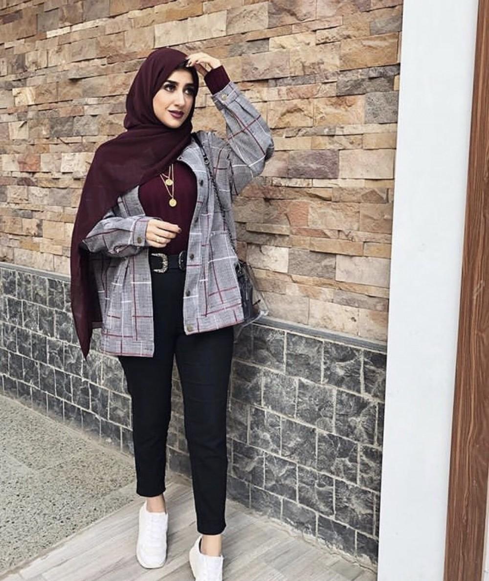صورة اجمل ملابس الشتاء , ازياء شتويه رائعه للمحجبات