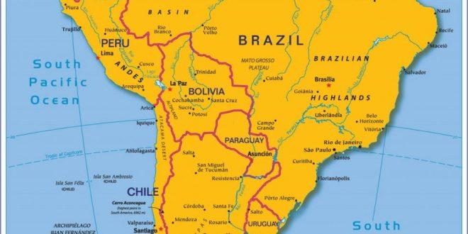 صورة خريطة امريكا اللاتينية , دول امريكا اللاتينيه وحدودها