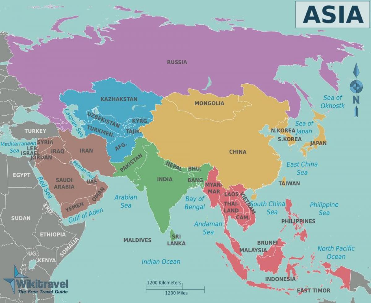 صورة خريطة شرق اسيا , دول شرق اسيا