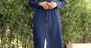 لباس طويل للمحجبات , ملابس محجبات انيقه