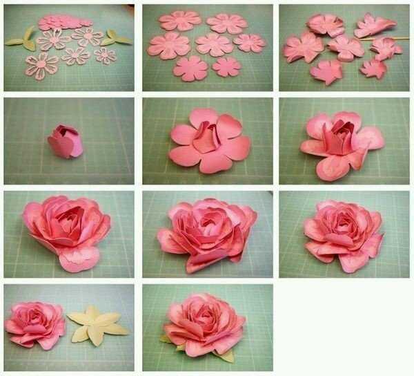 صورة عمل الورد بالورق , علمى ابنتك صناعة تلك الورود الجميله