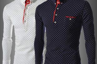 صورة قمصان اخر موضه , استايل رجالى بالوان جديده