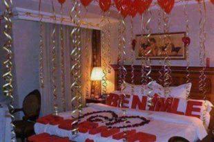 صورة افكار رومنسيه جريئه , تزيين غرفه النوم باشكال جميله