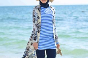 صورة محجبات على البحر , اطلاله واناقه ودلع على الشاطئ