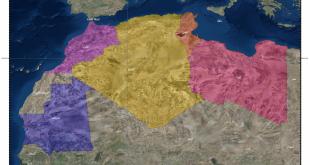 صورة خريطة المغرب العربي الكبير , اسماء دول المغرب العربي وموقعها