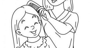 صورة رسومات عن الام , رسومات تعبر عن الام للتلوين للاطفال